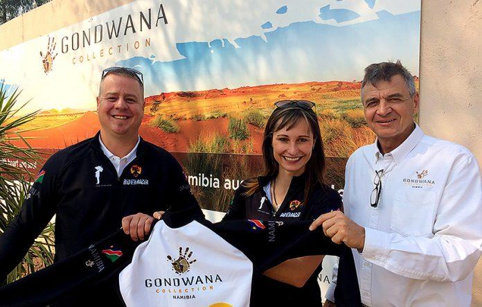 Namibisches Radsportduo wirbt am Matterhorn für Namibia