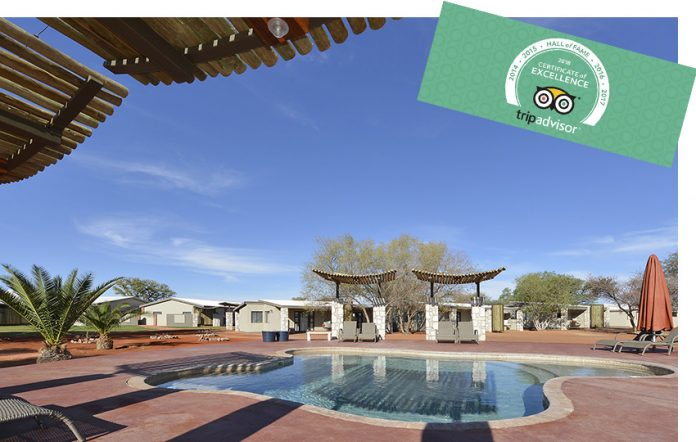 Kalahari Anib Lodge TripAdvisor Hall of Fame