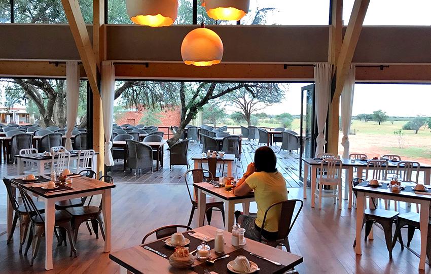 Kalahari Anib Lodge Frühstück