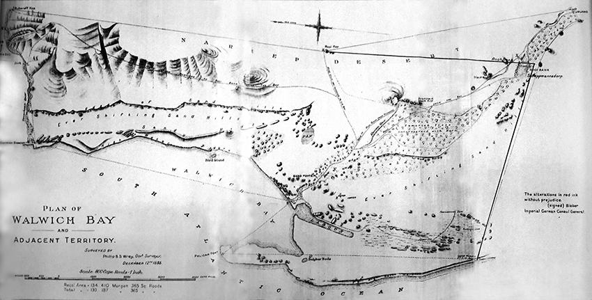 Plan von Walwich Bay, 1885