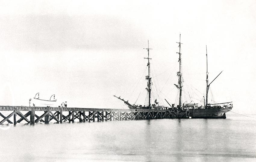 Walvis Bay Segelschiff 1899