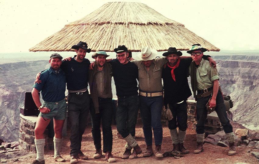 Teammitglieder der Vespaexpedition