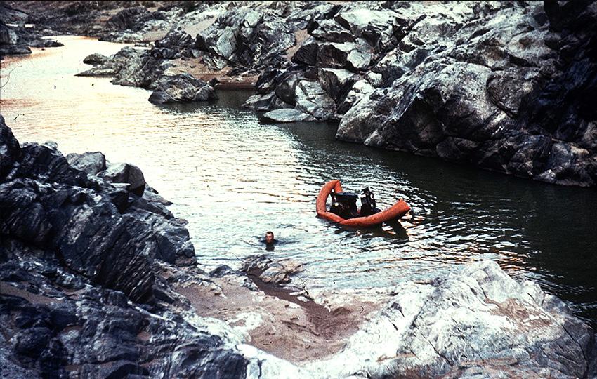 Schlauchboot im Fischfluss Canyon