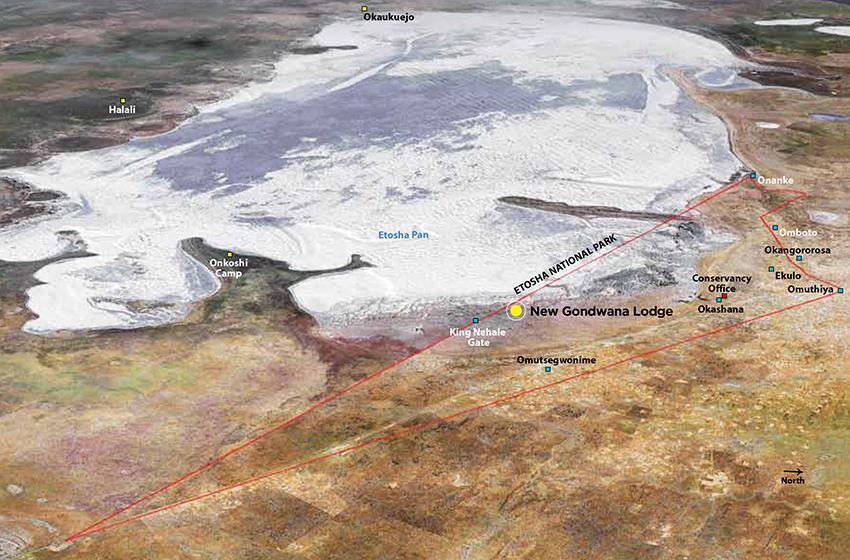 Karte: King Nehale Hegegebiet