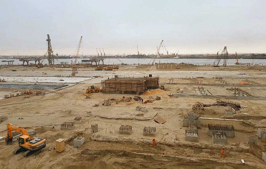 Walvis Bay Hafen Bauarbeiten