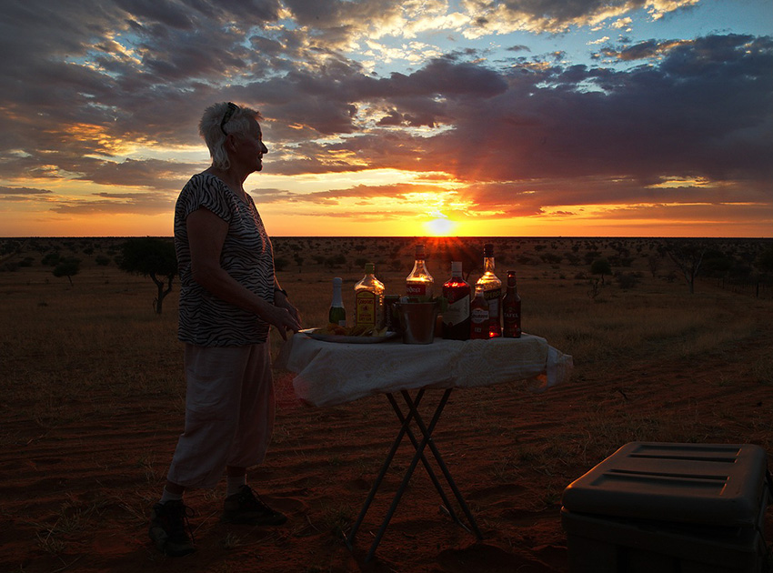 Kalahari Namibia Sundowner