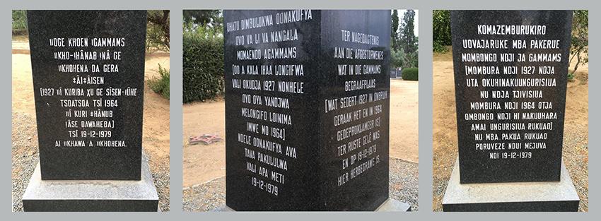 Gedenksteine für Spanische Grippe, Namibia