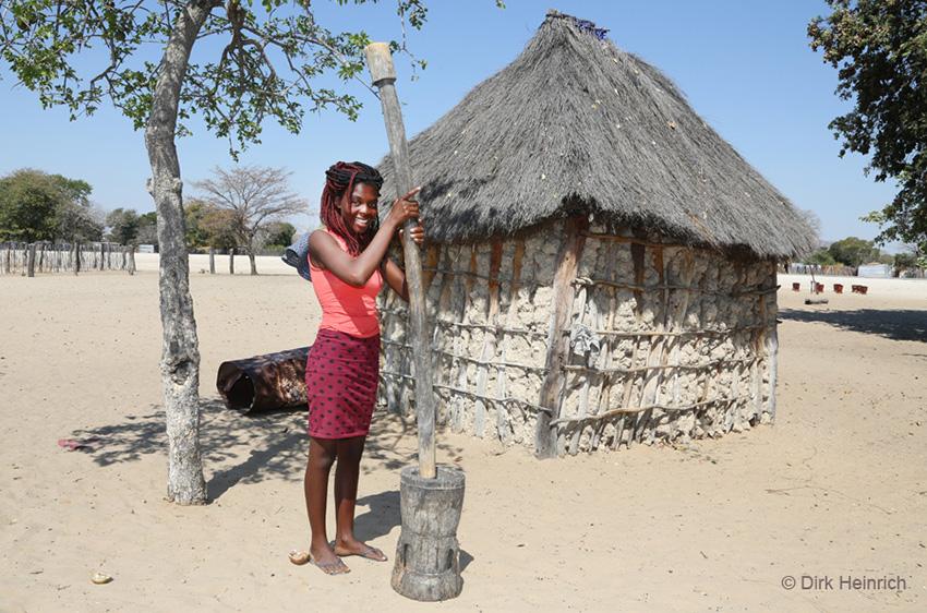 Hirse stampfen, Namibia
