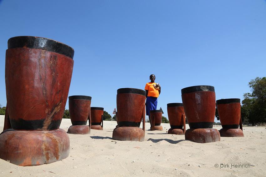 Mais- und Perlhirse-Mörser, Namibia
