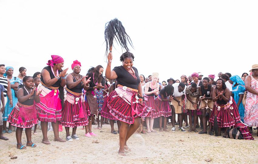 Ovambo-Hochzeit Traditionelle Feierlichkeiten