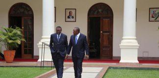 Präsidenten von Namibia und Kenia