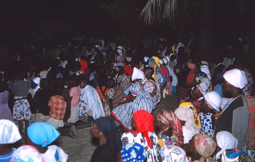 Angolanische Dorfgemeinschaft