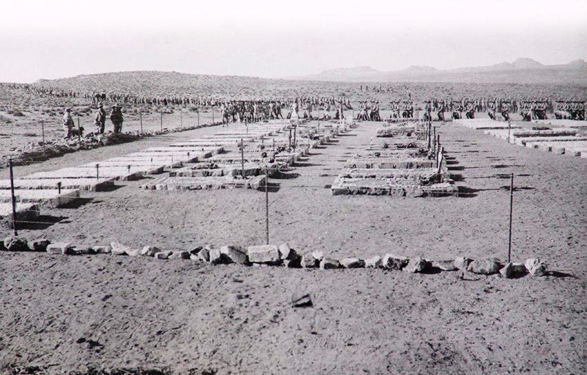 Begräbnis in Aus, 1918