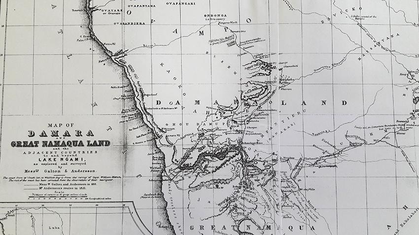Karte Damara Namaqualand