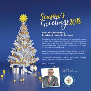 Weihnachtskarte Namibia