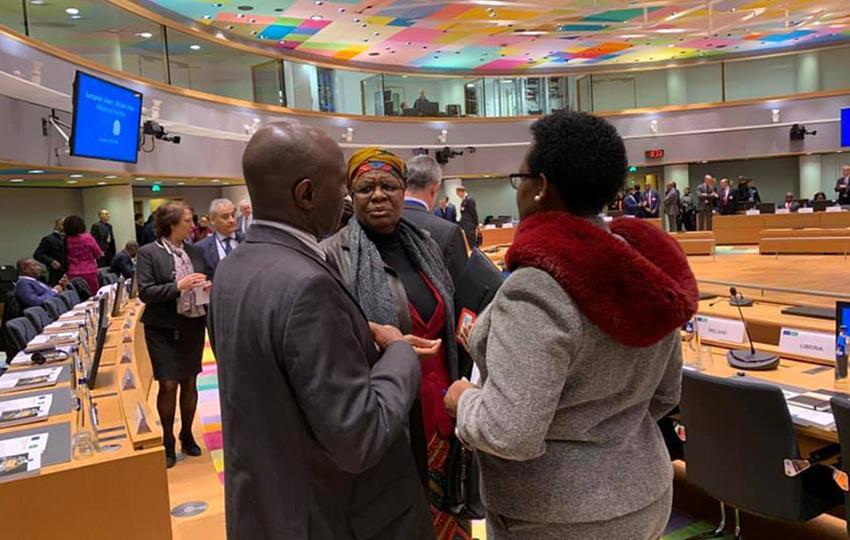 Namibias Außenministerin in Brüssel