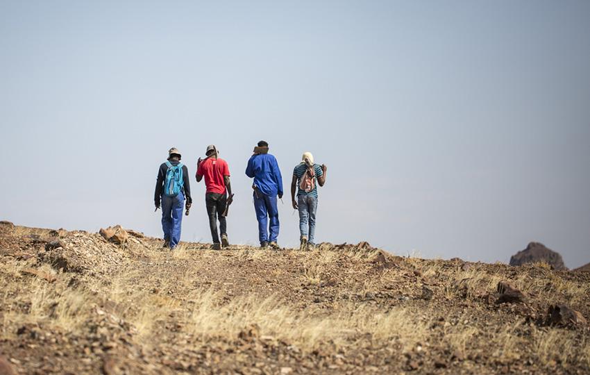 4 Bergleute Namibia