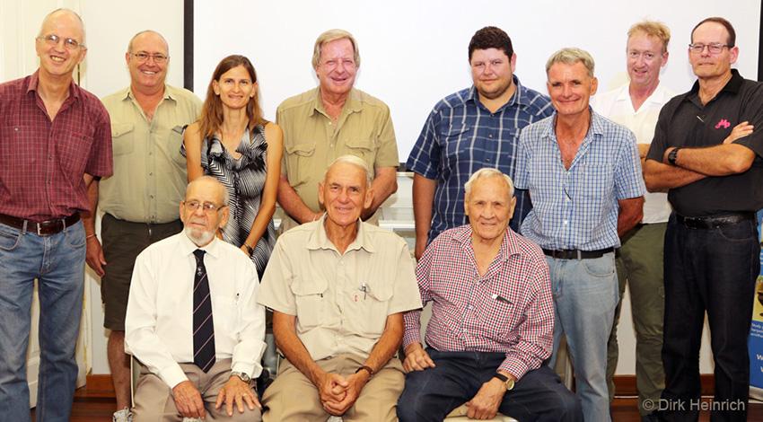 Peter Bridgeford und andere namibische Naturschützer