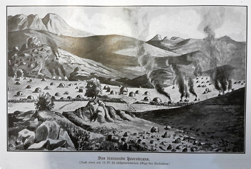 Hornkranz historische Zeichnung