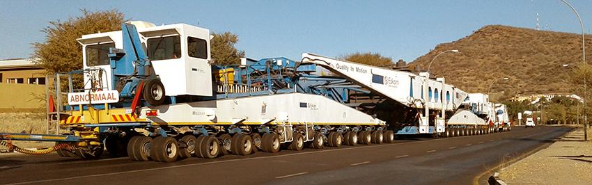NamPower Schwertransport