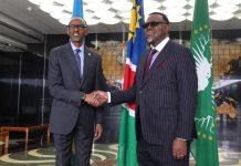 Präsidenten von Ruanda und Namibia