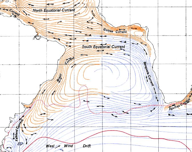 Benguelastrom vor Namibias Küste