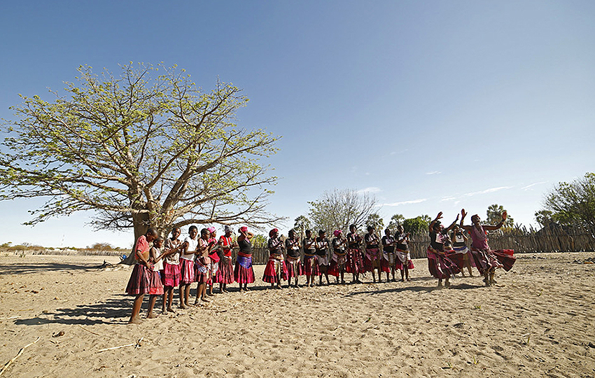 Namibia, traditionelle Tanzgruppe