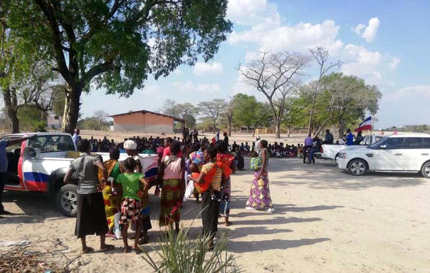 Wahlkampf auf dem Lande, Namibia