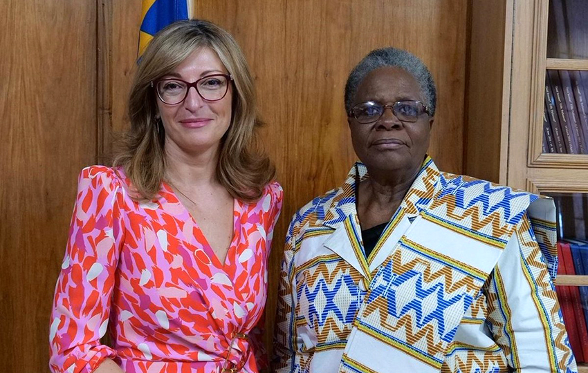 Bulgariens Außenministerin Ekaterina Zaharieva mit Netumbo-Nandi Ndaitwah