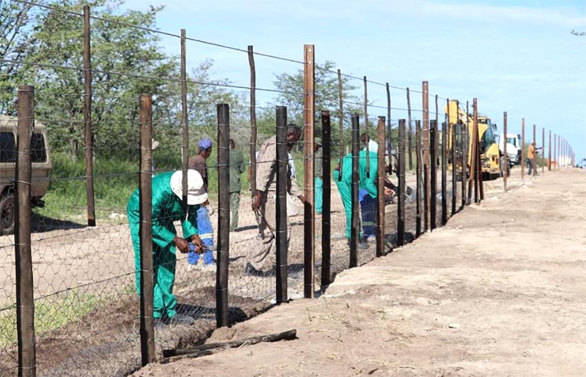 Etosha Nationalpark Einzäunung