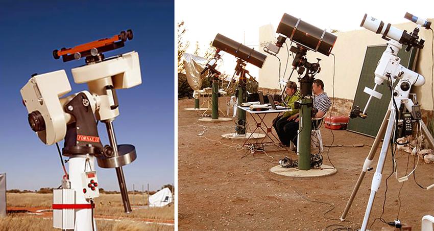 Teleskope Astrofarmen Kiripotib und Hakos