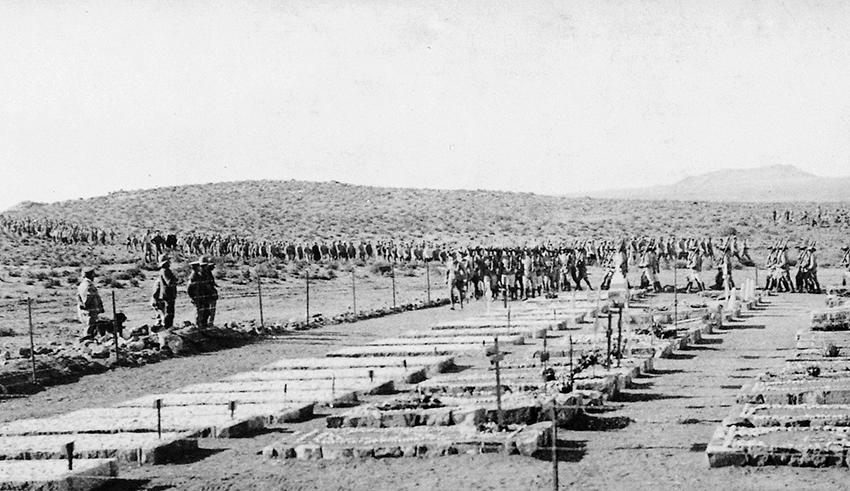 Friedhof von Aus, 1918