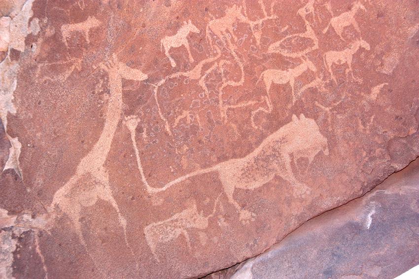 Twyfelfontein Felsgravur Löwe