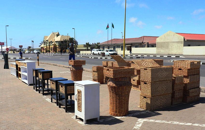 Straßenmarkt vor Altem Gefängnis, Swakopmund