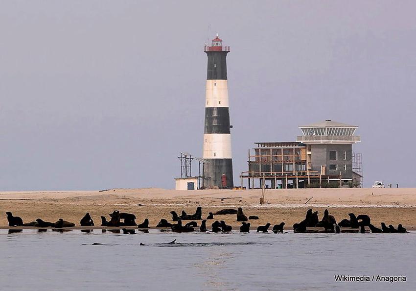 Leichtturm Pelican Point, Walvis Bay, Namibia