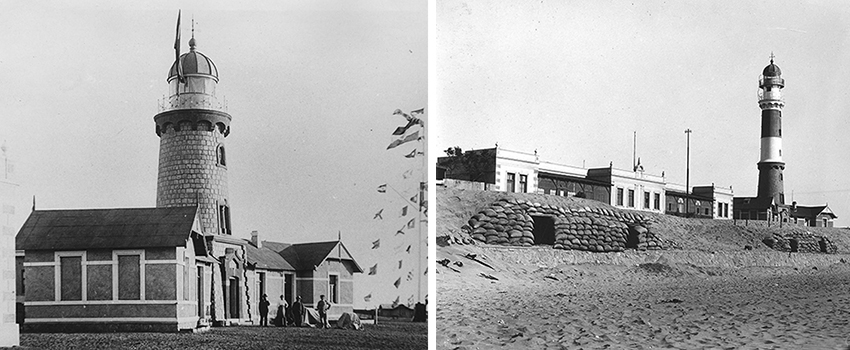 Leuchtturm Swakopmund 1903 und 1911