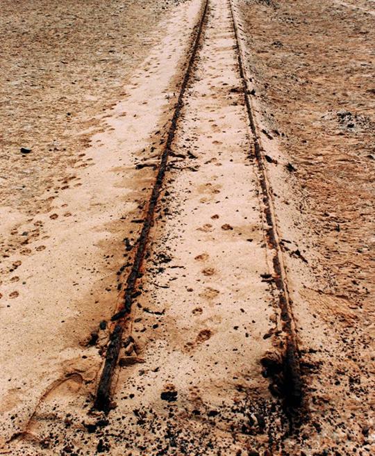 Eisenbahnschienen, Kreuzkap, Namibia