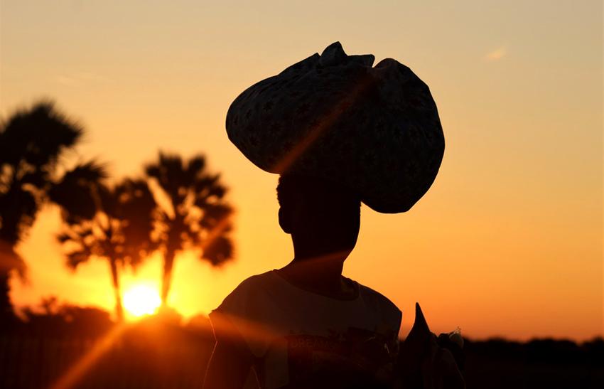 Namibia, Sonnenuntergang