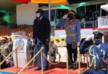 Präsident Hage Geingob, Luftmarschall Martin Pinehas,Namibia