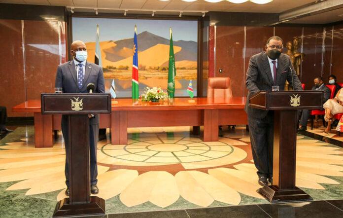 Präsident Masisi, Präsident Geingob