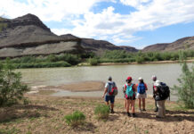 Wandern im Fischfluss Canyon, Namibia