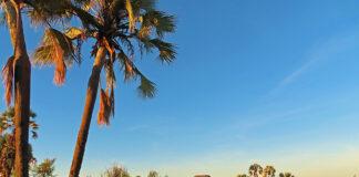 Palmwag Lodge & Camp, Sonnenuntergang