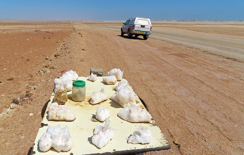 Salzkristalle, Namibia