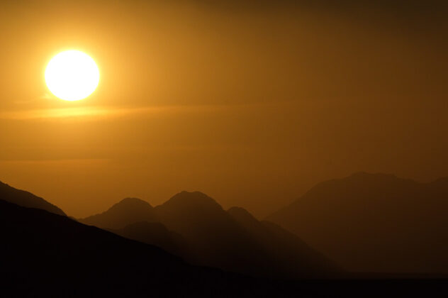 Sonnenuntergang, Namibia