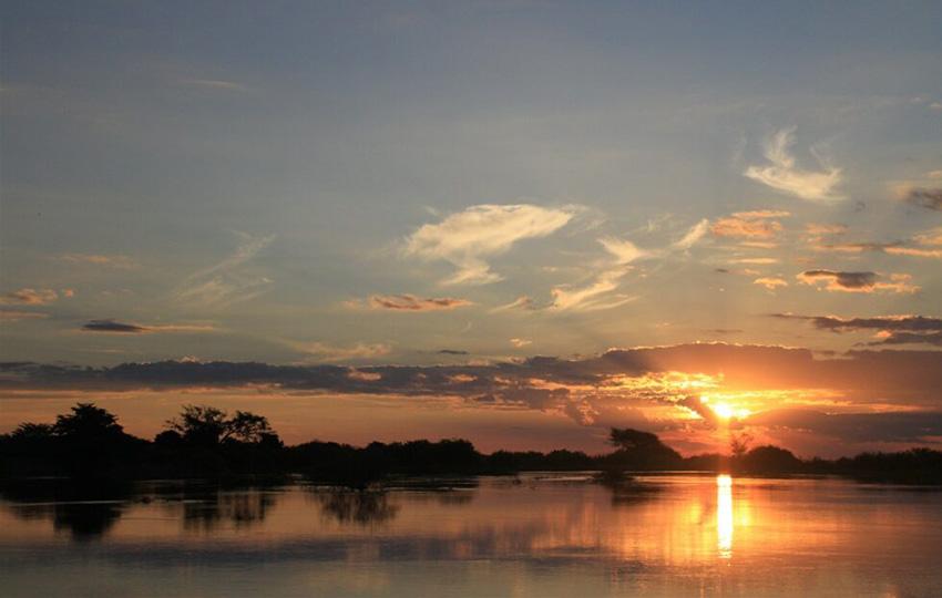 Sambesi-Region, Sonnenuntergang