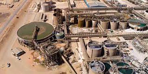 Raffinerie in Rosh Pinah, Namibia