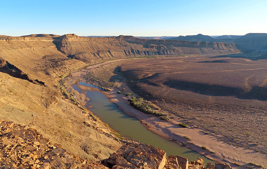 Blick auf Fischfluss Canyon