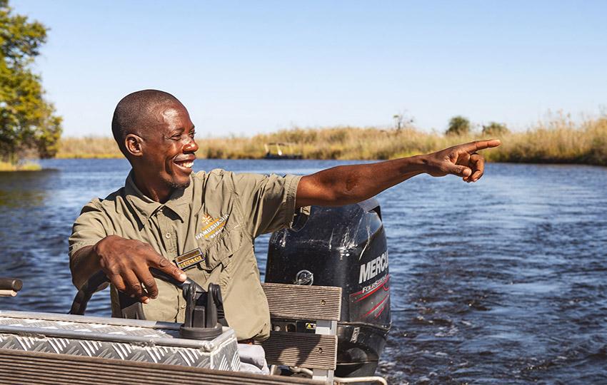 Bootstour auf dem Kwando, Namibia